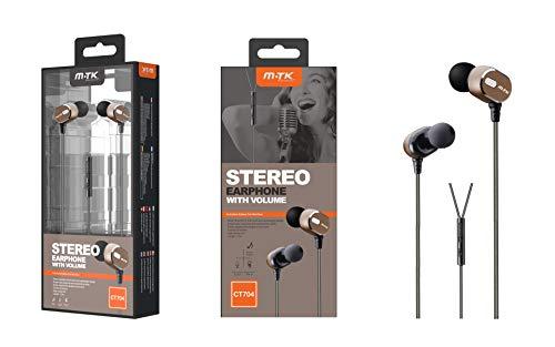 In-Ear-Kopfhörer mit hochsensitivem Mikrofon und reinem Sound für iPhone, iPad, Samsung und Tablets, Grau