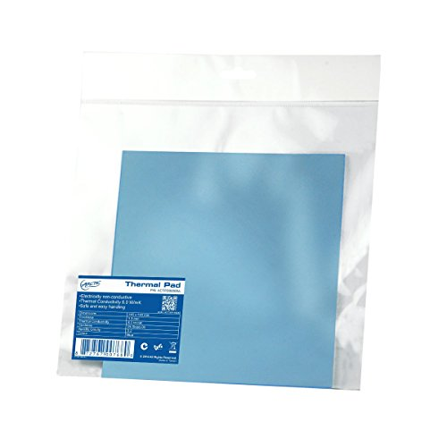 ARCTIC Thermal Pad 145 x 145 x 1.5 mm - Thermal Compound for Coolers, Efficient Thermal Conductivity, Gap Filler, Non-Stick, Safe Handling, Easy to Apply - Blue