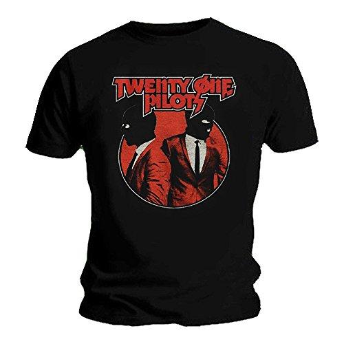 Twenty One Pilots Oficial Camiseta 21 Clique Incógnito Negro Máscaras