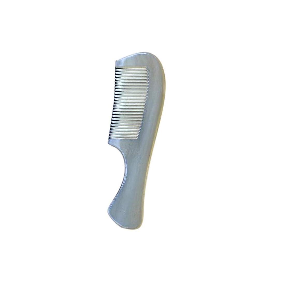 頬骨超音速非アクティブWASAIO 羊の角の櫛手作りの木製抗静的カーリーストレートヘアブラシブラシナチュラルノーワイド歯髪のポケットマッサージ
