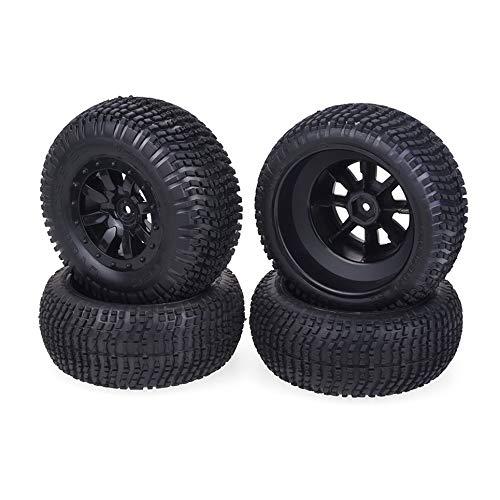 4PCS 12 Mm Hex 1//10 Scale RC Short Course Truck pneu /& roue pour TRAXXAS SlASH