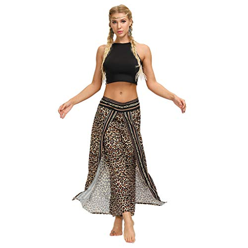 Dasongff Damen Beiläufig Pumphose Thai Hippie Hose Wickelhose Hosenrock Wickelrock Loose Fit Haremshose Aladinhose Leichte Weite Pluderhosen Yogahose Haremshose