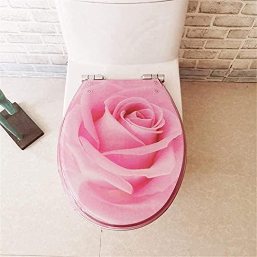 FTYYSWL Topp/botten fixering, toalettsits, U/V/O-formad toalettsits, snabbfrigörande gångjärn, mjuk stängning, enkel montering