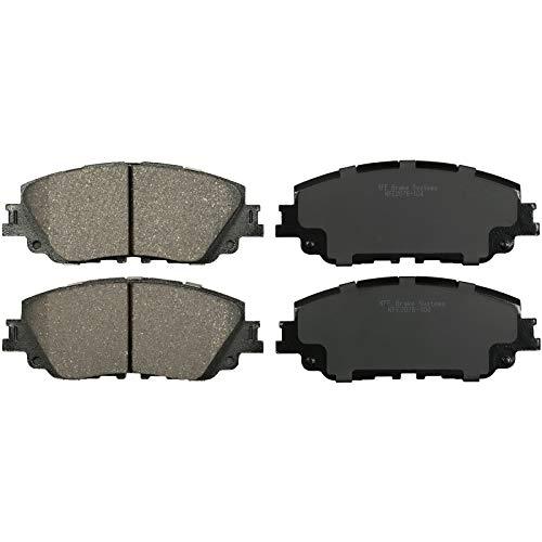 KFE KFE2076-104 Ultra Quiet Advanced Premium Ceramic Brake Pad FRONT Set Compatible With: 2018-2019 Toyota Camry, Rav4 Rav 4, Avalon; Lexus UX200, UX250H
