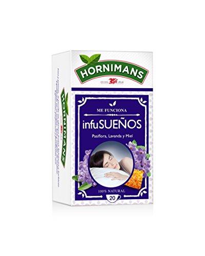 Hornimans - Me funciona InfuSueños - Bolsitas de té pasiflora, lavanda y miel - 20 unidades - [Pack de 12]