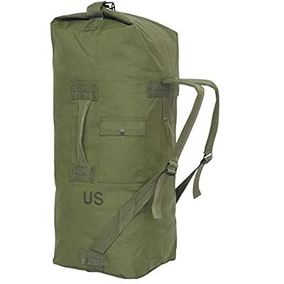 GI US Army Genuine Military Issue Duffle Bag Cordura Nylon 2 Carrying Straps Backpack Sea Bag Bug Out Bag Olive Drab (Oliver Drab)