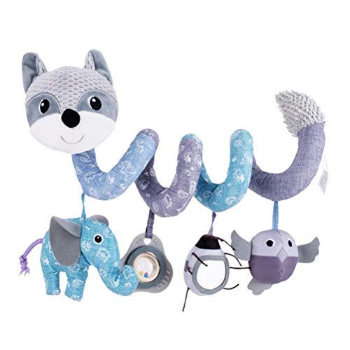 WINBST Actividad espiral, juguetes espirales, cochecitos, cama colgante juguetes, asiento de coche de bebé juguetes de dibujos animados animales juguetes agarrando juguetes para bebé