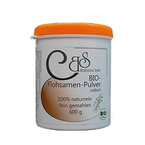 Bio Flohsamenpulver 600 g, aus ganzen Flohsamenkernen gemahlen, nicht nur aus Flohsamenschalen! - Barbara Seitz