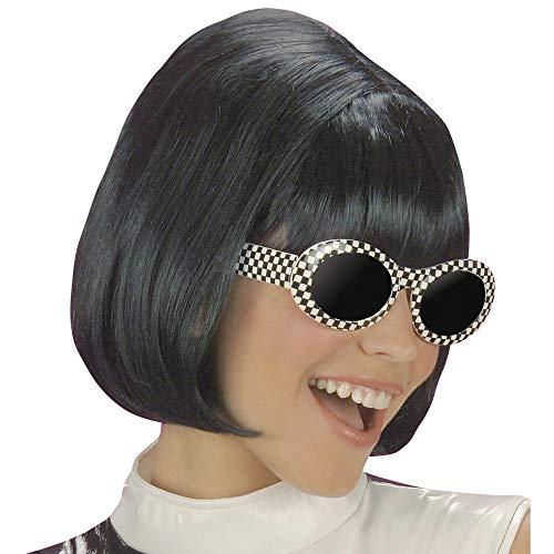 Widmann 6337S - Perücke Partygirl 60 / 70er Jahre, schwarz