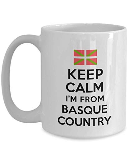 Taza para la gente del País Vasco Keep Calm I'm from Basque Country Best Perfect Cool Mug Ideas Taza de café Taza de té Nacionalidad Orgullo Hombres Mujeres