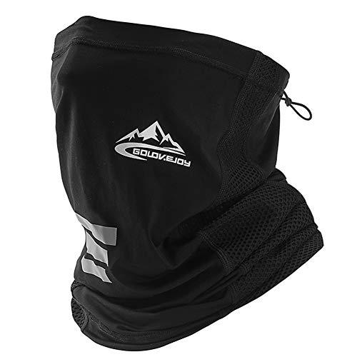 CCidea Riding Mask,Neck Breathable Mask, Balaclava Summer Sport Ice Silk Mask (FM-Black)
