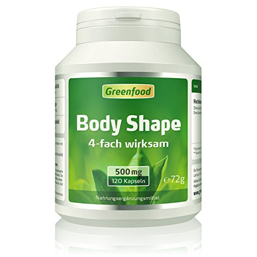 Body Shape, 500 mg, 4-fach wirksam, hochdosiert, 120 Kapseln – ohne künstliche Zusätze.
