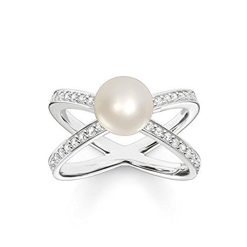 Thomas Sabo Damen-Ring 925 Silber Zirkonia weiß Gr. 54 (17.2) - TR2077-167-14-54