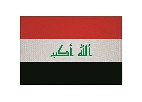 U24 Aufnäher Irak Fahne Flagge Aufbügler Patch 9 x 6 cm