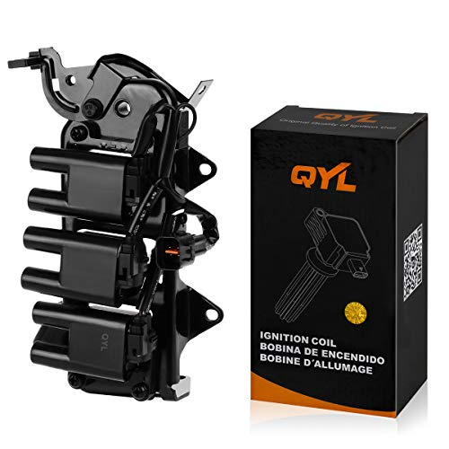QYL Ignition Coil Pack Replacement for Santa Fe Tiburon V6 2.7L 27301-37110 C1352 UF-357 UF-425