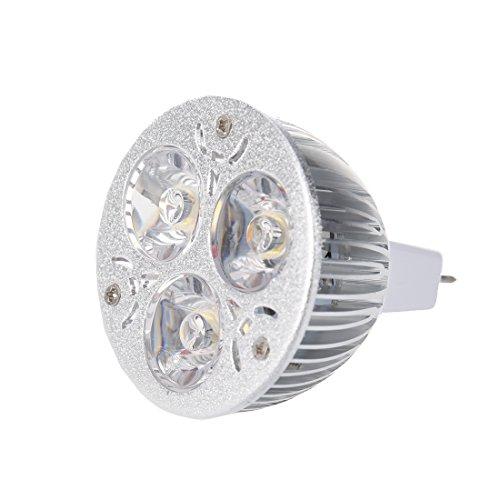 TOOGOO 3W 12-24V MR16 Caliente Blanco 3 LED Luz Foco Luz Lampara Bulbo Solo