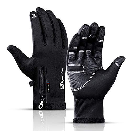 HEZE Guanti da ciclismo caldi e impermeabili per biciclette da esterno touchscreen per sport invernali per uomini e donne
