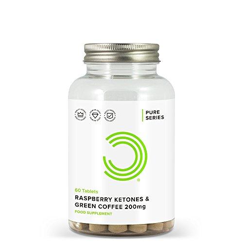 Bulk Himbeer Ketone und Rohkaffee Tabletten, 200 mg, 60 Tabletten, Verpackung Kann Variieren