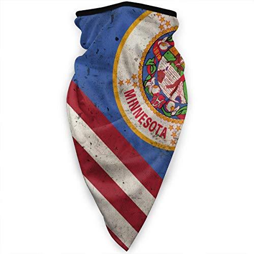 Mathillda Minnesota USA Flag Retro Masker Gamaschen halsdoek bivakmuts multifunctioneel