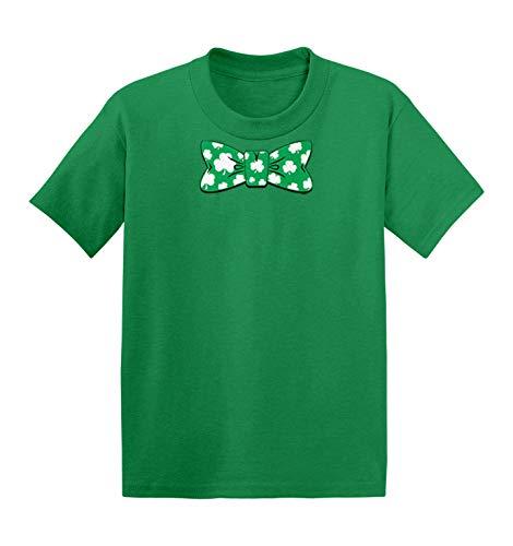 Shamrock Bow Tie - Fancy Irish Clover Infant/Toddler Cotton Jersey T-Shirt (Kelly, 18 Months)