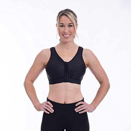 ENELL, Lite, Women's Full Coverage Sports Bra - Black, Size 3