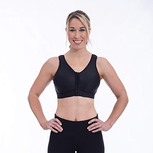 ENELL, Lite, Women's Full Coverage Sports Bra - Black, Size 4