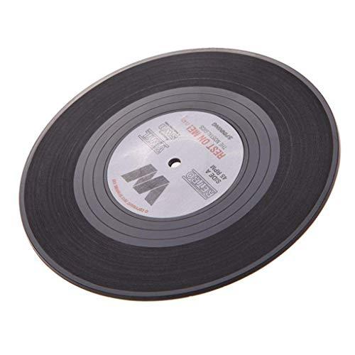 Tischset disco 4er set LP Placemats placa música rock músico DJ de silicona