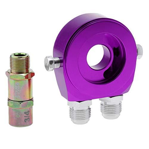 SHIYM-Filt, Aluminium Ölfilter Sandwich-Platten-Adapter - 3/4-16 UNF / M20 X 1.5-5 Farben zur Auswahl (Farbe : Lila)