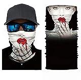 Pañuelo 3D para el cuello, la cabeza, ciclismo, multifunción, cinta para la frente, resistente al viento, para moto, esquí, snowboard, pasamontañas, Halloween, Hombre, U360.