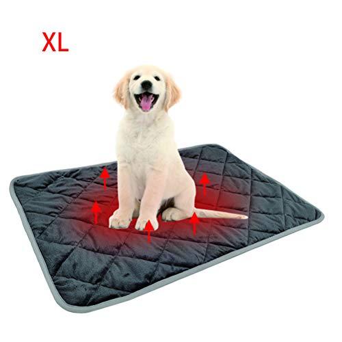 Macabolo huisdieren zelfverwarmingskussen winter warme mat huisdierdeken zelfverhitte kat hondenbed comfortabele warmtemat voor sofavloeren huisdierbed 72 x 115 cm.