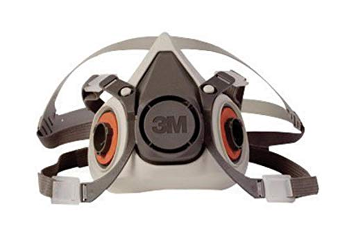 3M Small Gray Thermoplastic Elastomer Half Mask 6000 Series Reusable Standard Respirator With 4 Point Harness And…