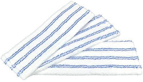 com-four® 3 Cubiertas de reemplazo de microfibras para limpiaparabrisas con Soporte Plegable...