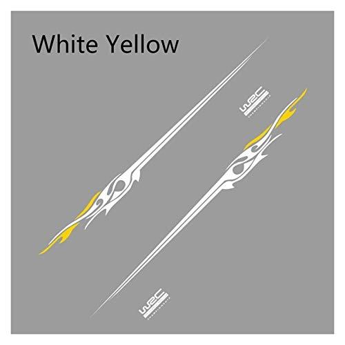 Pegatinas 2pcs Accesorios De Ajuste De Automóviles Adhesivos De Coches Calcomanías De Vinilo para Todos Los Modelos (Size : White Yellow)