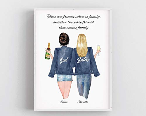 Personalised Gift for a Friend, Sisters Family Keepsake Friendship Print,Best Friends...