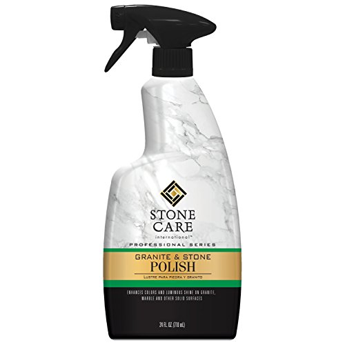 Stone Care International Granite Stone Polish - 24 Ounce - for Granite Marble Soapstone Quartz Quartzite Slate Limestone Corian Laminate Tile Countertop