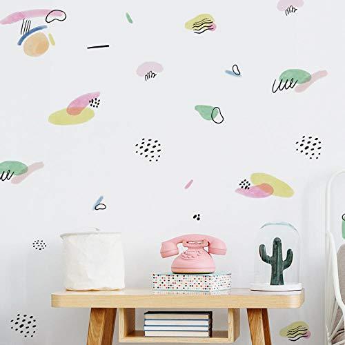 Cartoon Graffiti Crayons Wall Sticker Cute Nursery Wallpaper Self Adhesive Boy's Room Mural Wall Decor