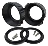 American Spa Parts (2) 2' Heater Union Split Nuts Kit with Gasket O.D. 3 1/4'