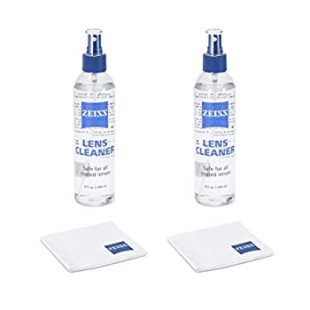 Zeiss Lens Care Pack - 2 - 8 Ounce Bottles of Lens Cleaner 2 Microfiber Cleaning Cloths