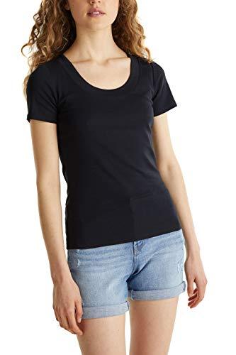 edc by Esprit Damen 040CC1K317 T-Shirt, 001/BLACK, L
