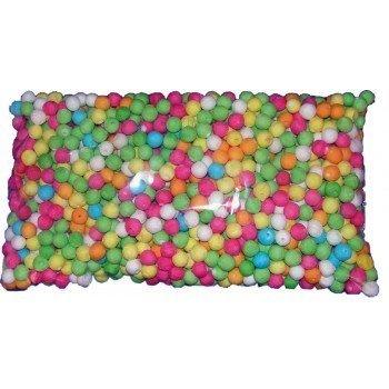 Sacchetto 100 palline cerbottana multicolori