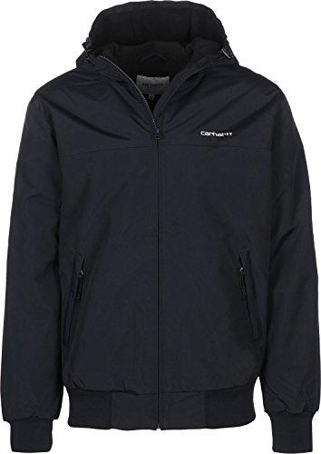 Carhartt Hooded Giacca Sportiva, Blu (Dark Navy/White), Small (Taglia Produttore:30) Uomo