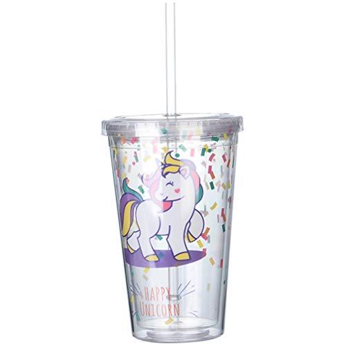 VALICLUD - Vaso de unicornio de doble pared con tapa y pajita,...