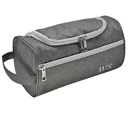 WILLWELL SPORT Toilettentasche Reise Wash Bag hängenHaken Dopp Kit Healthcare Bag Veranstalter Reisen für Badezimmer Dusche Rasieren Pflege Zubehör (grau)