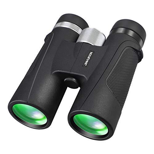 Jinhuaxin HD Binocolo Professionale, 12 x 42 Binocolo per Adulti con Poca Luce Notturna, Impermeabile Telescopio con adattatore per smartphone, per Bird Watching, Caccia, Eventi Sportivi, Viaggi