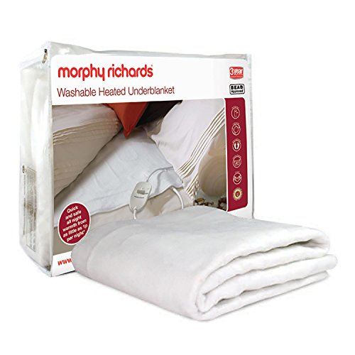 Morphy Richards 600112 All Night Underblanket (122cm) New Washable-Double (4 Heat), Polyester, White, Roll