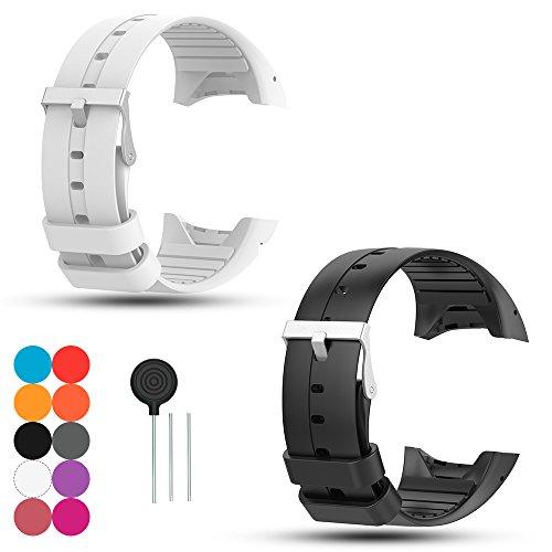 iFeeker 2PCS Für Polar M400 GPS-Laufuhr Uhrenarmband, Polar M430 Laufuhr Silikon Armband Zubehör Weich Silikon Gummi Ersatz Uhrenarmband Armband Sport Armband für Polar M400 / M430 GPS Laufuhr