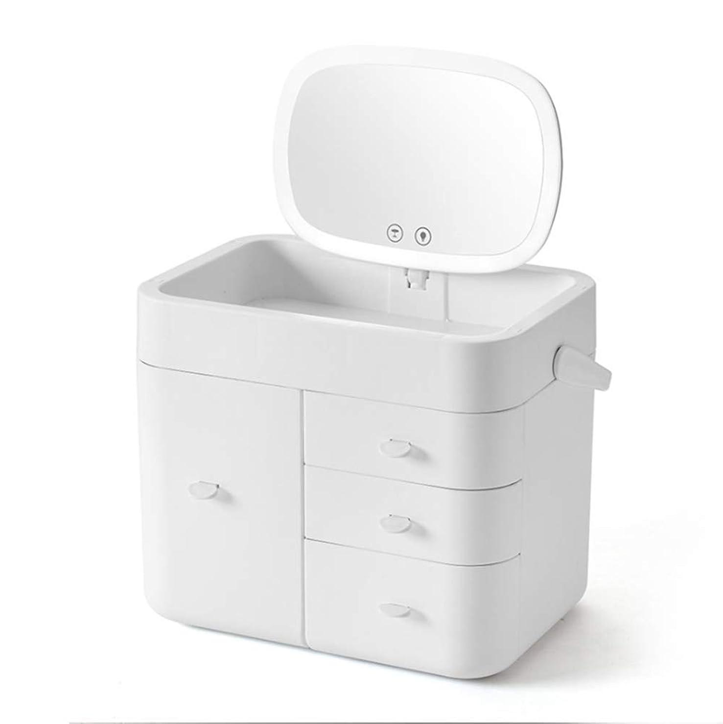 パトワ赤まさにJATANSU コスメボックス メイクボックス 可愛い 姫系 持ち運び 防水防湿 大容量 引き出し 2カラー (ホワイト)