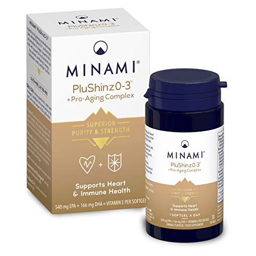 Minami - PluShinzO-3 - Omega 3 Fish Oil - High EPA & DHA Formula - 540mg EPA & 166mg DHA per Serving - Maintains Heart and Immunity Health - 30 Capsules
