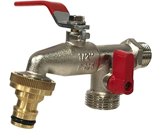Aqua Control G6354 Grifo de Jardín Premium de Doble Salida 1/2