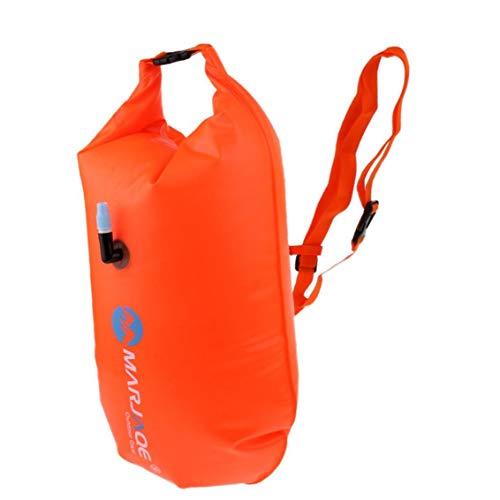 Bolsa Perfeclan inflable de la nadada Boya En seco Aguas Abiertas remolque flotador naranja premium de PVC Construcción ligera durable